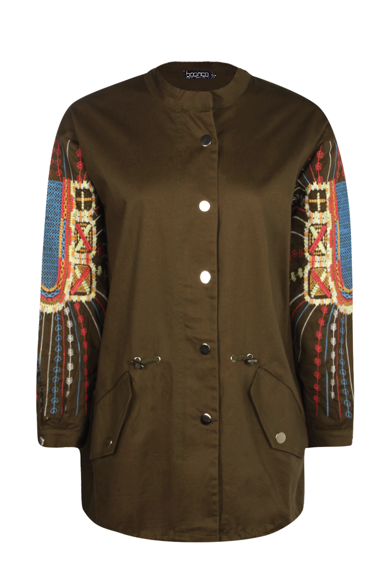 Emma Embroidered Utility Jacket >