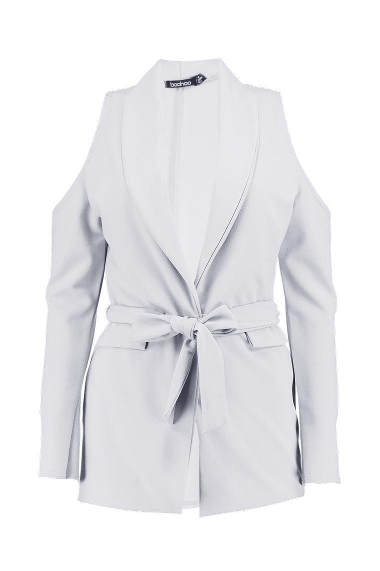 Florence Cold Shoulder Blazer >