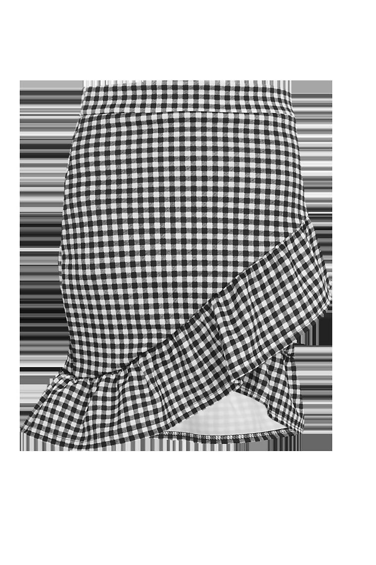 Avalon Gingham Mini Skirt >